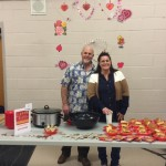Team #3: Dave Patota, Principal, Freetown-Lakeville Middle School, and Elizabeth Sullivan, Assistant Principal, FLMS. Serving: Chow Mein sandwiches.